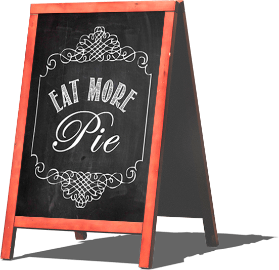 eat more pie sign